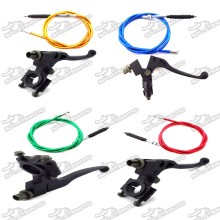 Aluminum Clutch Lever + Cable For Chinese 50cc 70cc 90cc 110cc 125cc 140cc 150cc 160cc Pit Dirt Motor Trail Bike Motorcycle