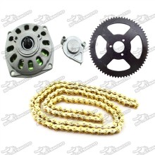 Clutch Drum Gear Box Rear Chain Sprocket 25H Chain For 2 Stroke Minimoto Pocket Bike 4 Wheeler ATV Quad