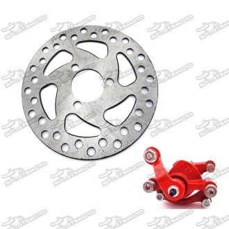 Front Left Side Disc Brake Caliper Brake Disc For 2 Stroke Minimoto Electric Go Kart Scooter Pocket Bike ATV Quad