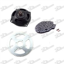 6 Tooth Gear Box + T8F 116 Links Chain + 54T Rear Sprocket For 47cc 49cc Mini Pocket Bike Mini Moto