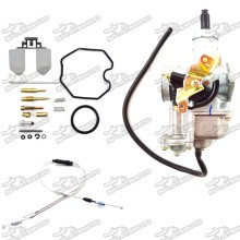 Keihin 30mm PZ30 Carburetor Carb Repair Kits Gas Throttle Cable For 200cc 250cc Pit Dirt Bike ATV Quad