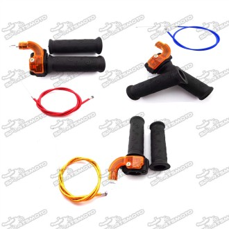 Twist Throttle Accelerator Grip + Throttle Cable For 43cc 47cc 49cc Quad Pocket Bike Mini Dirt Bike