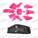 Plastic Fairing Body Kits + Tall Foam Seat For Honda CRF50 XR50 50cc-160cc Chinese Made SSR Atomik Thumpstar Pit Dirt Bike