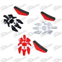 Plastic Fairing Body Kits + Tall Foam Seat For 50cc 70cc 90cc 110cc 125cc 140cc 150cc 160cc Honda CRF50 XR50 Pit Dirt Bike