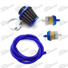 38mm Air Filter Cleaner + 5mm 1 Meter Fuel Hose Line + Fuel Filter For 50cc - 125cc Pit Dirt Bike ATV Quad Moped Scooter