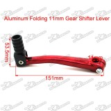 Folding 11mm Gear Shifter Lever +  13mm Kick Starter Lever For Chinese Pit Dirt Bike 50cc 70cc 90cc 110cc 125cc YX Lifan Engine