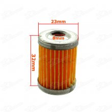 8mm ID Dirt Pit Bike Paper Rebuild Aftermarket Fuel Filter Element Core Inner For Motorcycle Cruiser Chopper Bobber Yamaha Honda Suzuki Kawasaki Aprilia Ducati Aluminium Oil Gas Petrol Cleaner Repair Parts Motocross