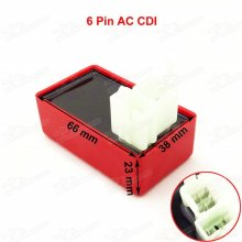 Square Plug 4+2 6 Pin AC CDI Box For 50cc 110cc 150cc 200cc 250cc Taotao Kazuma Dirt Pit Bike Quad ATV Go Kart Buggy Pitbike