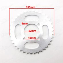 420 37 Tooth Rear Chain Sprocket For Chinese ATV Quad Pit Dirt Bike ID 52mm