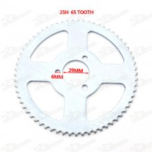 25H 65 Tooth 65T Rear Sprocket For 47cc 49cc Pocket Bike Mini Moto Quad ATV ID=29mm