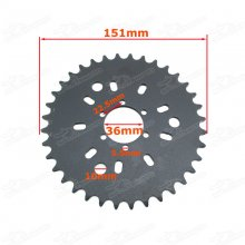 415 6 Hole 36T Rear Sprocket For 49cc 50cc 60cc 80cc Motorised Bicycle Push Bike Engine Motor