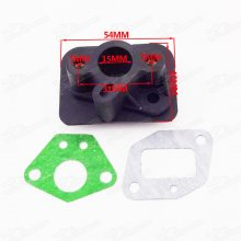 Intake Inlet Manifold Gaskets For 33cc 43cc 49cc Goped Scooter Cat Eye Pocket Bike