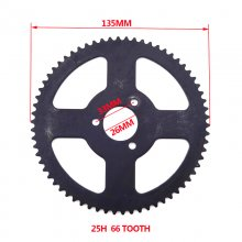 25H 66 Tooth Rear Sprocket ID 26mm For Chinese 47cc 49cc Mini Moto Pocket Bike