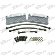 Dual Oil Cooler For Zongshen Daytona 190cc Engine Pit Dirt Motor Bike LXR DHZ Motorcycle