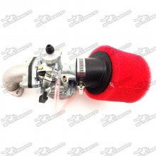 Mikuni 26mm Carburetor VM22 Carb + Red 38mm Air Filter + Gasket + Mainfold Intake Pipe For 110cc 125cc 140cc Engine Pit Dirt Bike Motocross