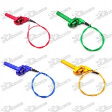 Alloy Twist Throttle Cable Handle Assembly For XR50 CRF50 KLX110 TTR SSR Pro Thumpstar Motocross Pit Dirt Trail Bike