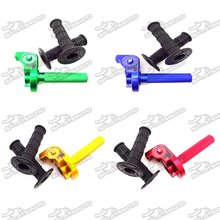 Twist Alloy Throttle + Black Handle Grips For XR50 CRF50 CRF70 KLX110 SSR Thumpstar YCF Pit Dirt Bike Motocross Motorcycle