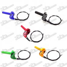 1/4 Turn CNC Alloy Twist Throttle Cable Handle Assembly For TTR XR CRF Pit Dirt Bike Motorcycle MX Motocross