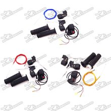 Hand Grips + Kill Stop Switch + Twist Throttle + 115mm 825mm Throttle Cable + Brake Lever For 2 Stroke 47cc 49cc Chinese Pocket Mini Bike