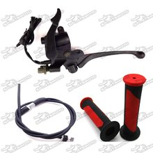Alloy Thumb Throttle Cable Brake Lever Handle Grips For 50cc - 250cc Chinese ATV Quad 4 Wheeler