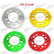Aluminum 428 41 Teeth 76mm Rear Sprocket For Lucky MX Thumpstar Explorer Braaap Atomic Pitpro Pitster Pro DHZ Pit Dirt Bike