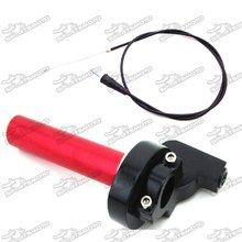 1/4 Turn Aluminum Twsit Handle Throttle Cable For 50cc 70cc 90cc 110cc 125cc 140cc 150cc 160cc Pit Dirt Trail Motor Bike