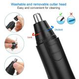 Electronic Nose Ear Hair Trimmer for Men Women Black
