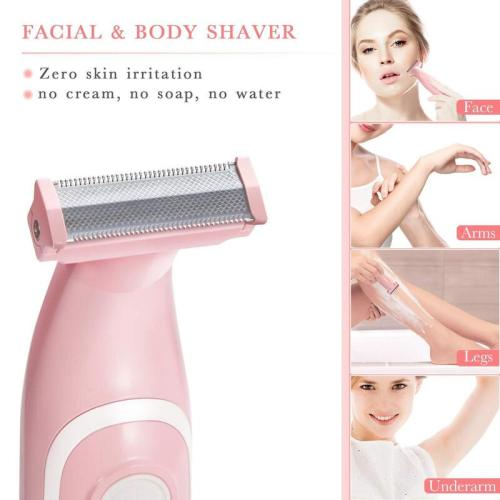 Liberex Womens Shaver Painless Hair Removal Trimmer Pink