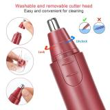 Electronic Nose Ear Hair Trimmer-Red