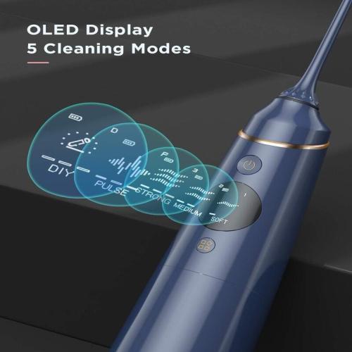 Liberex FC2660S DIY & OLED Cordless Water Flosser-Navy Blue