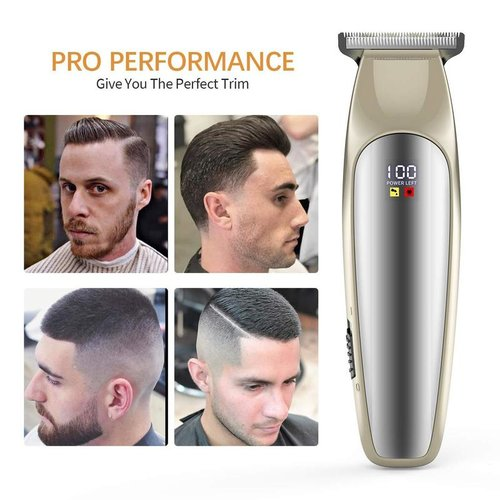 Liberex Professional Cordless Electric Fade Hair Trimmers Set PC200 with 3 Guide Combs for Men Kids Family Home