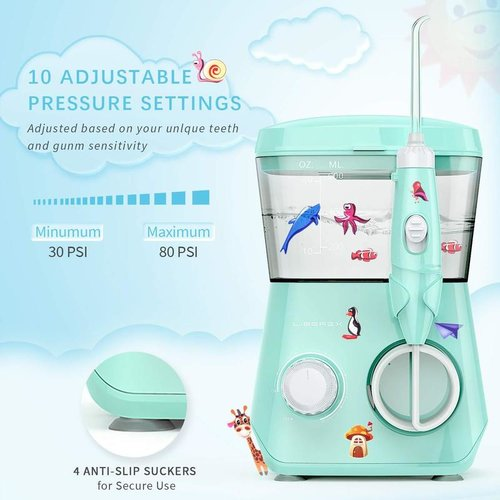 Liberex Water Flosser for Kids for Teeth/Braces 600ML IP X7 Waterproof