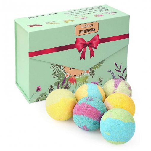 Bath Bombs Set with 6 Scents, FDA Approved (6 x 3.5 Oz)