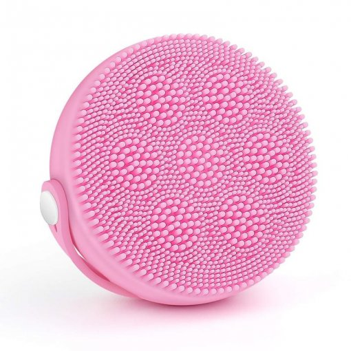 Liberex SF300 Silicone Facial Cleansing Brush Pink with 6 Function Modes, Smart Timer, IPX7 Waterproof
