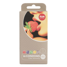 Fun Factory Kondome Color Moments Box of 10 繽紛色香味裝 一盒十個