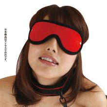 虜ベルベット 紅色眼罩