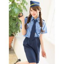 女優南相泽的最爱的藍色警察制服