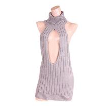 魅惑前開胸的處女毛衣