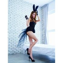 女士黑色制服-長尾巴的浪漫兔子