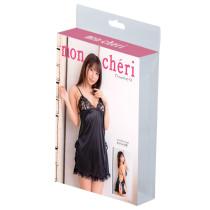Moncheri性感黑色側絲帶吊帶裙套裝