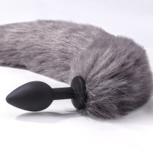 狐狸尾巴肛塞-灰色