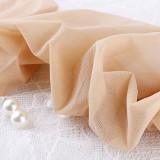 优质蕾丝15D花边长筒袜7209-白色款