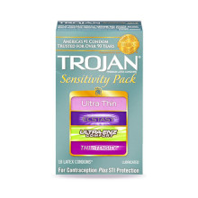 Trojan Sensitivity Pack Box of 10 無套體驗裝 一盒十個