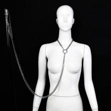 燙銀粗鐵鏈可拆卸頸套牽引頸圈