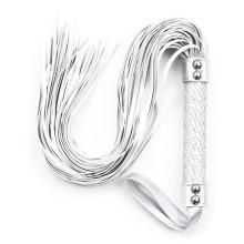 調教道具銀色皮革散鞭子