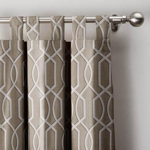 Imperial Trellis Curtain Tab Top Blackout Lining Drape Panel BQ66270