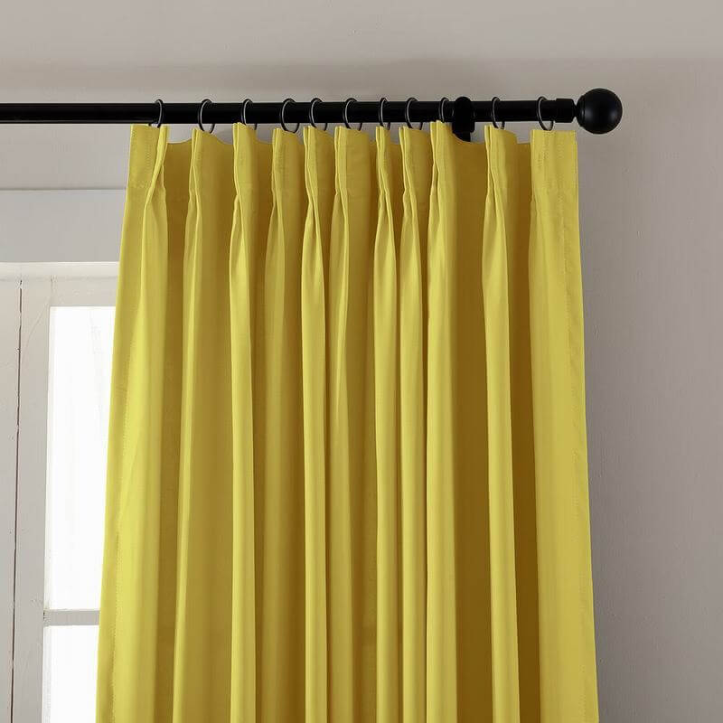 Pinch Pleated Curtain Blackout Patio Door Panel Drape For Traverse Rod Track