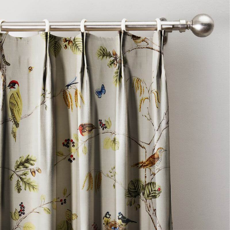 Rural Pastoral Print Window Curtain Pinch Pleated Blackout Lining Darpes Panel