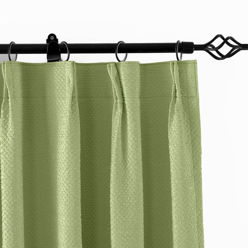 Pinch Pleated Jacquard Circle Bubble Wrinkle Curtain Drapery For Traverse Rod or Track Pin Hooks Included