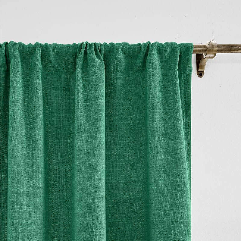 Rod Pocket Curtain for Sliding Glass Door Living Room Bedroom (1 Panel) Liz Collection